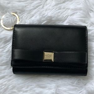 Kate Spade ♠️ Smooth Leather Wallet Black Keychain